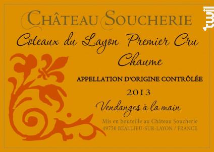 Coteaux du Layon 1er Cru Chaume - Château Soucherie - 2014 - Blanc