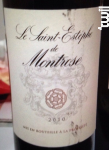 Le Saint-Estèphe de Montrose - Château Montrose - 2014 - Rouge
