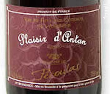 Plaisir d'Antan - Domaine de Pécoulas - 2016 - Rouge