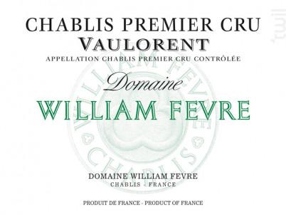 Chablis Premier Cru - Vaulorent - Domaine William Fevre - 2013 - Blanc