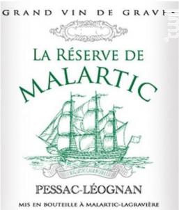 La Réserve de Malartic - Château Malartic-Lagravière - 2016 - Blanc
