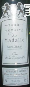Clos Boutarelle - Domaine des Madalle - 2016 - Rouge