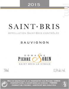 Saint-Bris - Domaine Pierre Sorin - 2017 - Blanc
