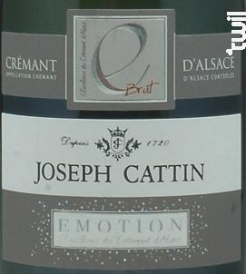 Emotion - Maison Joseph Cattin - Non millésimé - Effervescent