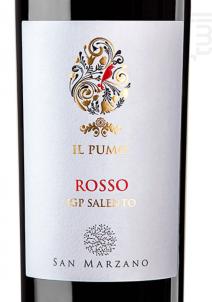 Il Pumo  Rosso Salento IGP - Cantine San Marzano - 2015 - Rouge