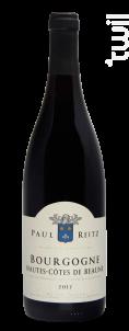 Bourgogne Hautes Côtes de Beaune - Maison Paul Reitz - 2018 - Rouge