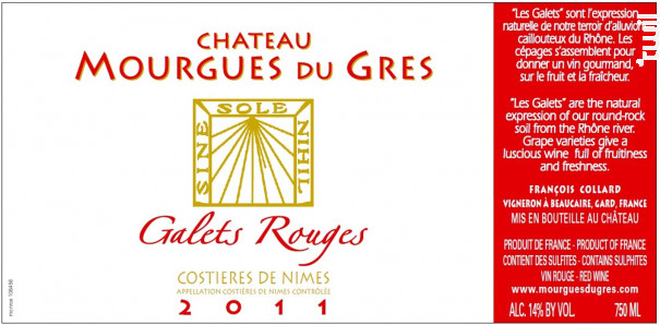 Les Galets Rouges - Château Mourgues du Grès - 2018 - Rouge