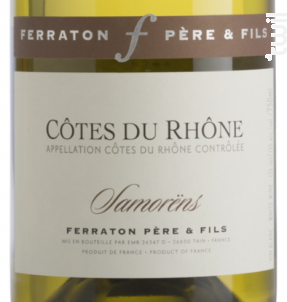 Samorëns - Ferraton Père & Fils - 2015 - Blanc