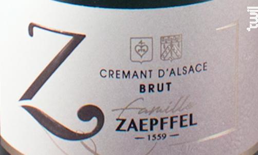 Crémant Brut - Auxerrois-Pinot Blanc - Famille Zaepffel - 2016 - Effervescent