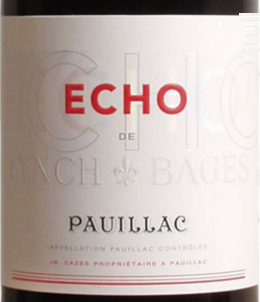 Echo de Lynch-Bages - Château Lynch-Bages - 2017 - Rouge