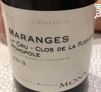 Maranges 1er Cru - Clos de la Fussière Monopole - Domaine Xavier Monnot - 2015 - Rouge