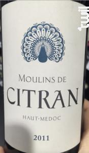 Moulins de Citran - Château Citran - 1988 - Rouge