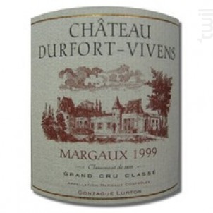 Château Durfort-Vivens - Château Durfort-Vivens - 1999 - Rouge