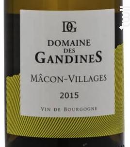 Domaine des Gandines Mâcon-Villages - Domaine des Gandines - 2017 - Blanc
