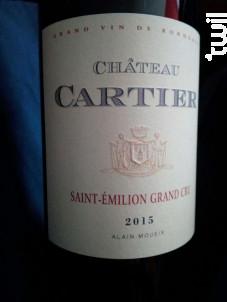 Château Cartier - vin Bio - Château Fonroque - 2017 - Rouge