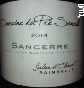 Domaine du Pré Semelé - DOMAINE DU PRÉ SEMELÉ - 2015 - Rouge