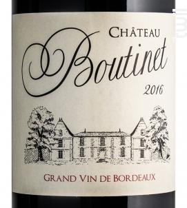 Chateau Boutinet - Château Boutinet - 2016 - Rouge