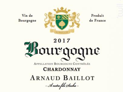 Bourgogne Chardonnay - Domaine Arnaud Baillot - 2017 - Blanc