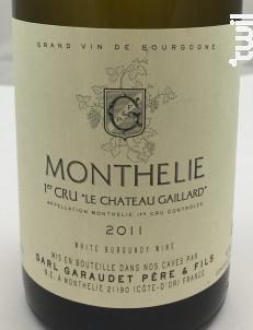 Monthélie Premier Cru Le Château Gaillard - Garaudet Père et Fils - 2013 - Blanc