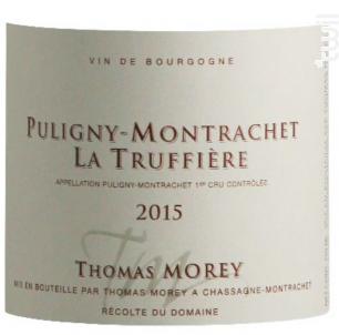 PULIGNY MONTRACHET LA TRUFFIERE - Domaine Thomas Morey - 2016 - Blanc