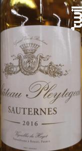 Château Pleytegeat - Vignobles du Hayot - 2016 - Blanc