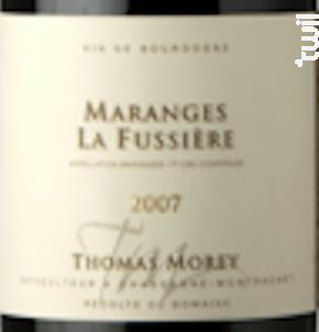 Maranges 1er Cru - La Fussière - Domaine Thomas Morey - 2019 - Rouge