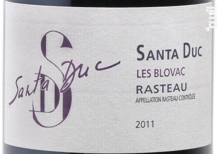 Les Blovac - Domaine Santa Duc - 2013 - Rouge