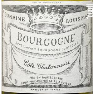 BOURGOGNE CÔTE CHALONNAISE - Louis Max - 2015 - Blanc
