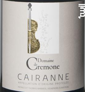 Premier Violon - Cairanne - Domaine de Crémone - 2014 - Rouge