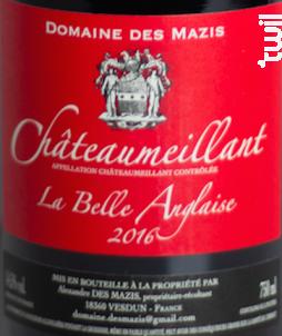 La Belle Anglaise - Domaine des Mazis - 2016 - Rouge