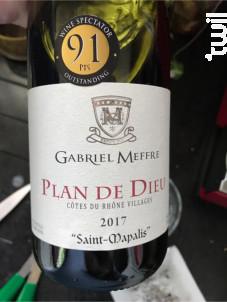 Plan de Dieu - Saint-Mapalis - Maison Gabriel Meffre - 2017 - Rouge
