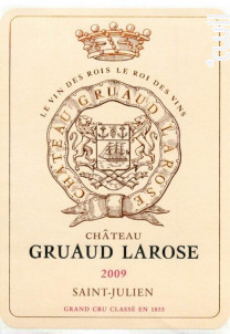 Château Gruaud Larose - Château Gruaud-Larose - 2009 - Rouge