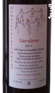 Sardane - Domaine Vents du Sud - 2018 - Rouge