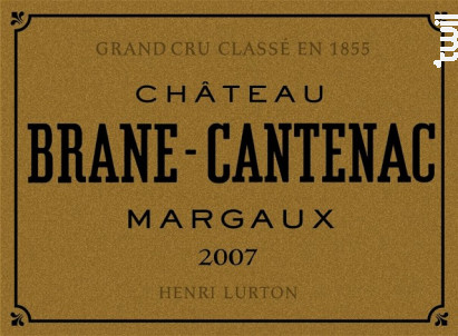 Château Brane Cantenac - Château Brane Cantenac - 2007 - Rouge