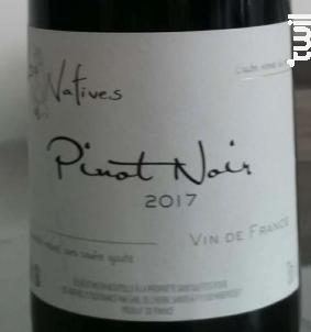 Pinot Noir - LES NATIVES - 2017 - Rouge