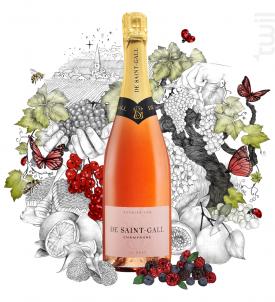 Le Rosé Premier Cru - Champagne de Saint-Gall - Non millésimé - Effervescent