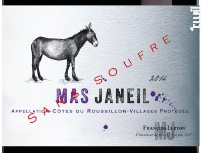 Mas Janeil Sans Soufre - François Lurton - Mas Janeil - 2016 - Rouge