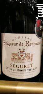 Seigneur de Renouard Séguret - DOMAINE RENOUARD - 2018 - Rouge