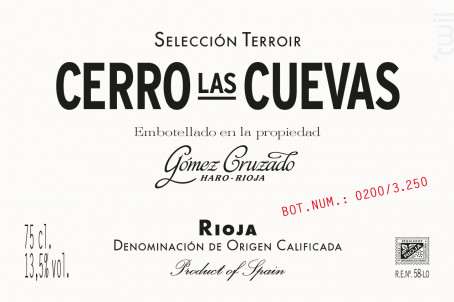 CERRO LAS CUEVAS - GOMEZ CRUZADO - 2014 - Rouge