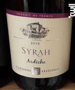 Syrah - Ardèche - Vignerons Ardéchois - 2018 - Rouge