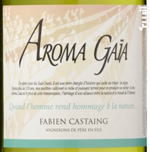 Aroma Gaia - VIGNOBLES FABIEN CASTAING - 2019 - Blanc
