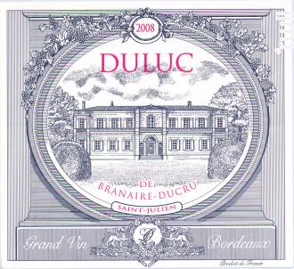 Duluc de Branaire Ducru - Château Branaire-Ducru - 2015 - Rouge