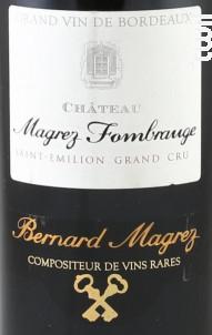 Château Magrez Fombrauge - Château Fombrauge - 2014 - Rouge
