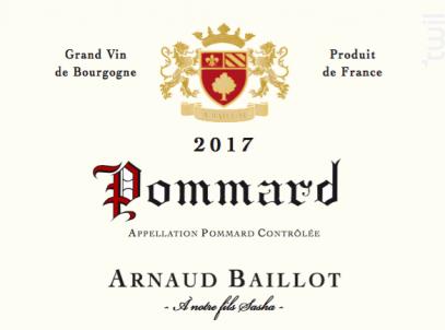 Pommard Vieilles Vignes - Domaine Arnaud Baillot - 2017 - Rouge