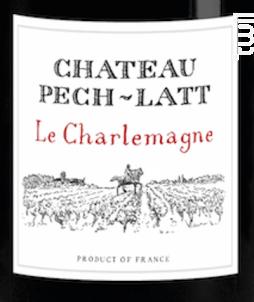 LE CHARLEMAGNE - Chateau Pech-latt - 2015 - Rouge