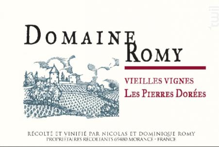 Les Pierres Dorées - Vieilles Vignes - Domaine Romy - 2018 - Rouge