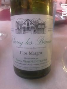 Clos Margot - Domaine Michel Prunier et Fille - 2007 - Blanc