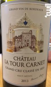 Château La Tour Carnet - Bernard Magrez - Château La Tour Carnet - 2013 - Rouge
