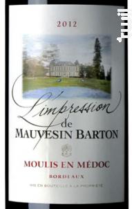 L'Impression de Mauvesin Barton - Château Mauvesin Barton - 2012 - Rouge