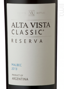 Alta Vista Malbec Classic - Alta Vista - 2017 - Rouge